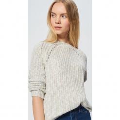 Sweter z drobnym splotem - Wielobarwny. Żółte swetry klasyczne damskie marki ekoszale, ze splotem. Za 99,99 zł.