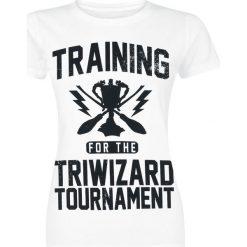 Bluzki asymetryczne: Harry Potter Triwizard Tournament Koszulka damska biały