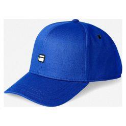 G-Star Raw - Czapka. Niebieskie czapki z daszkiem męskie marki G-Star RAW, z bawełny, retro. Za 179,90 zł.