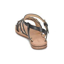 Sandały Geox  JOLANDA E. Szare sandały trekkingowe damskie marki Geox, z gumy. Za 383,20 zł.