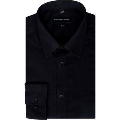 Koszula  SIMONE KDCS000323. Czarne koszule męskie jeansowe marki Giacomo Conti, m, z klasycznym kołnierzykiem. Za 169,00 zł.