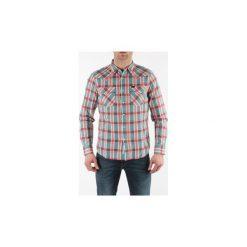Koszule z długim rękawem Lee  Koszula Męska ® 643IEKY Western Shirt Slim Fit. Szare koszule męskie slim marki Lee, l, z bawełny, button down, z długim rękawem. Za 199,00 zł.