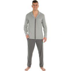 Koszule męskie na spinki: Piżama z koszulą z długim rękawem,