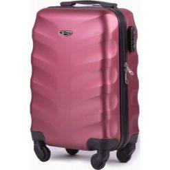 Podręczna walizka kabinowa abs Różowa (82010-uniw). Czerwone walizki marki Solier. Za 159,63 zł.