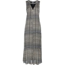 Sukienka wieczorowa z nadrukiem bonprix czarny - szampan. Niebieskie sukienki koktajlowe marki bonprix, z nadrukiem. Za 129,99 zł.