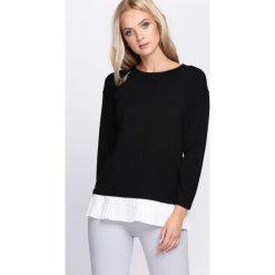 Swetry klasyczne damskie: Czarny Sweter Directionless