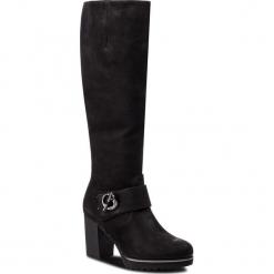 Kozaki CAPRICE - 9-25612-21 Black Nubuc 008. Czarne buty zimowe damskie Caprice, z materiału, na obcasie. Za 479,90 zł.