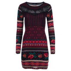 Desigual Sukienka Damska Naila L Burgund. Czerwone sukienki z falbanami Desigual, l. Za 599,00 zł.