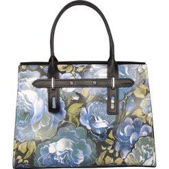 Torebki klasyczne damskie: Skórzana torebka w kolorze niebieskim – 30 x 22 x 13 cm
