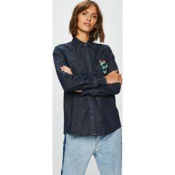 Trussardi Jeans - Koszula. Szare koszule jeansowe damskie marki Trussardi Jeans, s, z długim rękawem. Za 499,90 zł.