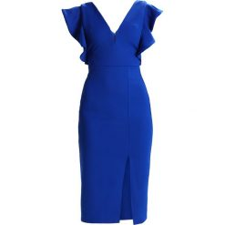 Sukienki hiszpanki: WAL G. V NECK FRILL SLEEVE MIDI  Sukienka etui dark cobalt blue