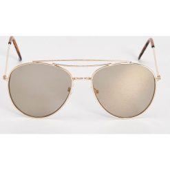 Okulary przeciwsłoneczne damskie aviatory: Okulary przeciwsłoneczne – Beżowy