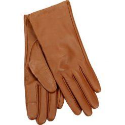 Rękawiczki damskie. Brązowe rękawiczki damskie Gino Rossi, z materiału. Za 109,90 zł.