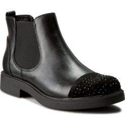 Sztyblety CARINII - B3751 360-E50-PSK-B79. Czarne buty zimowe damskie Carinii, z materiału, na obcasie. W wyprzedaży za 269,00 zł.