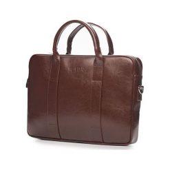 Torba Solier Skórzana męska torba na laptopa Brązowa Solier William. Brązowe torby na laptopa marki Solier. Za 397,66 zł.