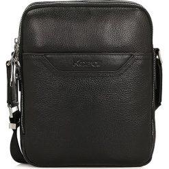 Czarna torba przez ramię. Czarne torby na ramię męskie marki Kazar, w paski, ze skóry, przez ramię, małe. Za 449,00 zł.