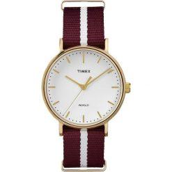 Zegarek Timex Unisex TW2P98100 Weekender Fairfield 37 bordowy. Czerwone zegarki męskie Timex. Za 209,84 zł.