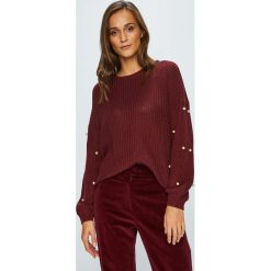 Only - Sweter Mella. Brązowe swetry oversize damskie ONLY, l, z bawełny. W wyprzedaży za 99,90 zł.