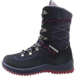 Lowa EMELY GTX  Śniegowce navy/beere. Niebieskie buty zimowe damskie Lowa, z materiału. W wyprzedaży za 356,30 zł.