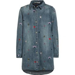 Sukienki dziewczęce z falbanami: Scotch R'Belle COLORED EMBROIDERIES Sukienka jeansowa blue denim