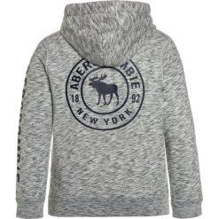 Abercrombie & Fitch EVERYBODY  Bluza z kapturem medium heather grey. Szare bluzy dziewczęce rozpinane Abercrombie & Fitch, z bawełny, z kapturem. Za 169,00 zł.