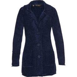 Płaszcze damskie: Płaszcz dzianinowy szeniliowy bonprix ciemnoniebieski