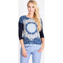 Bluzki damskie: Granatowa bluzka z orientalnym wzorem QUIOSQUE