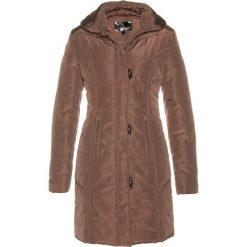 Płaszcz pikowany bonprix ciemnobrązowy. Brązowe płaszcze damskie bonprix. Za 169,99 zł.