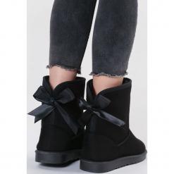 Czarne Śniegowce Proper. Czarne buty zimowe damskie other, z materiału, z okrągłym noskiem, na platformie. Za 89,99 zł.