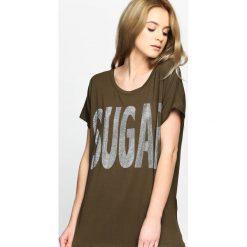 T-shirty damskie: Khaki T-shirt Sugar Cane