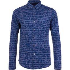 Koszule męskie na spinki: Koszula w kolorze niebiesko-fioletowym