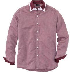 Koszula biznesowa Regular Fit bonprix czerwony klonowy -biały wzorzysty. Białe koszule męskie marki bonprix, z klasycznym kołnierzykiem, z długim rękawem. Za 74,99 zł.