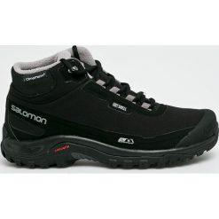 Salomon - Buty Shelter Cs Wp. Czarne buty trekkingowe męskie marki Salomon, z gore-texu, na sznurówki, outdoorowe, gore-tex. Za 569,90 zł.
