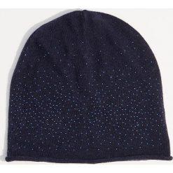 Czapka z domieszką wełny - Granatowy. Niebieskie czapki zimowe damskie marki WED'ZE, z materiału. Za 29,99 zł.