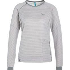 Dynafit THERMAL Bluza alloy. Szare bluzy rozpinane damskie Dynafit, z bawełny. W wyprzedaży za 384,30 zł.