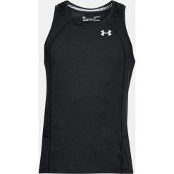 Under Armour Koszulka męska Swyft Singlet czarna r. M  (1318416-001). Szare koszulki sportowe męskie marki Under Armour, z elastanu, sportowe. Za 123,66 zł.