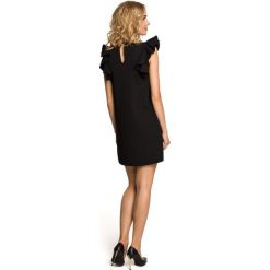 SIENNA Mini sukienka bez rękawów z falbanami - czarna. Sukienki małe czarne Moe, na co dzień, bez rękawów. Za 154,90 zł.