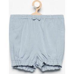 Szorty damskie: Krótkie spodenki z kokardką – Niebieski