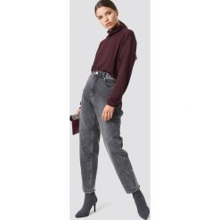 Cheap Monday Jeansy Donna Corrupt - Grey. Szare spodnie z wysokim stanem Cheap Monday, z jeansu. Za 283,95 zł.