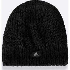 Adidas Performance - Czapka. Czarne czapki męskie adidas Performance, na zimę, z dzianiny. W wyprzedaży za 49,90 zł.