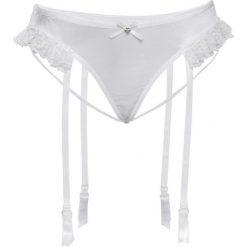 Stringi: Stringi z paskami do pończoch bonprix biały