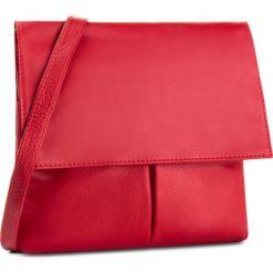 Torebka CREOLE - RBI384 Czerwony. Czerwone listonoszki damskie Creole, ze skóry. W wyprzedaży za 159,00 zł.