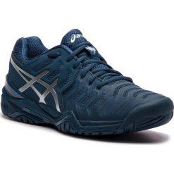 Buty ASICS - Gel-Resolution Novak E805N Peacoat/Silver 400. Niebieskie buty fitness męskie Asics, z materiału. W wyprzedaży za 449,00 zł.