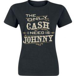 Johnny Cash The Only Cash Koszulka damska czarny. Czarne bluzki z odkrytymi ramionami Johnny Cash, s, z nadrukiem. Za 74,90 zł.