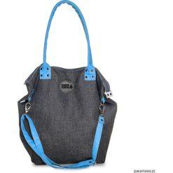 Torba Worek City Denim #TURKUS. Szare torebki klasyczne damskie marki Pakamera, z denimu. Za 189,00 zł.