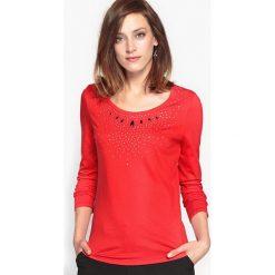 T-shirty damskie: T-shirt z dekoracyjnym wykończeniem, bawełna i modal