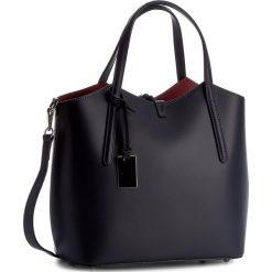 Torebka CREOLE - K10318 Granatowy/Czerwony. Niebieskie torebki klasyczne damskie Creole, ze skóry. W wyprzedaży za 229,00 zł.