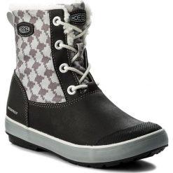 Śniegowce KEEN - Elsa Boot Wp 1015257 Black/Hundstooth. Czarne buty zimowe chłopięce marki Keen, z futra. W wyprzedaży za 229,00 zł.