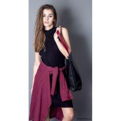 Torba basic czarna 03. Czarne torebki klasyczne damskie Pakamera, w paski, z bawełny. Za 135,00 zł.