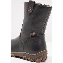 Froddo Śniegowce black. Niebieskie buty zimowe damskie marki Froddo, z materiału, na wysokim obcasie. W wyprzedaży za 252,85 zł.